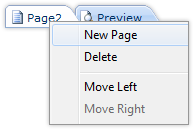 New Page Function in Context Menu