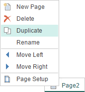 Duplicate Page in HTML5 Designer
