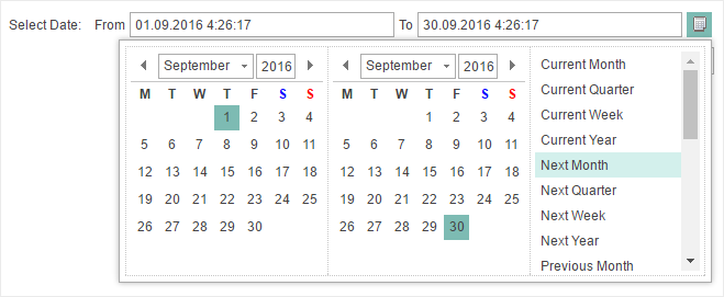 Improved Calendar in the Variable