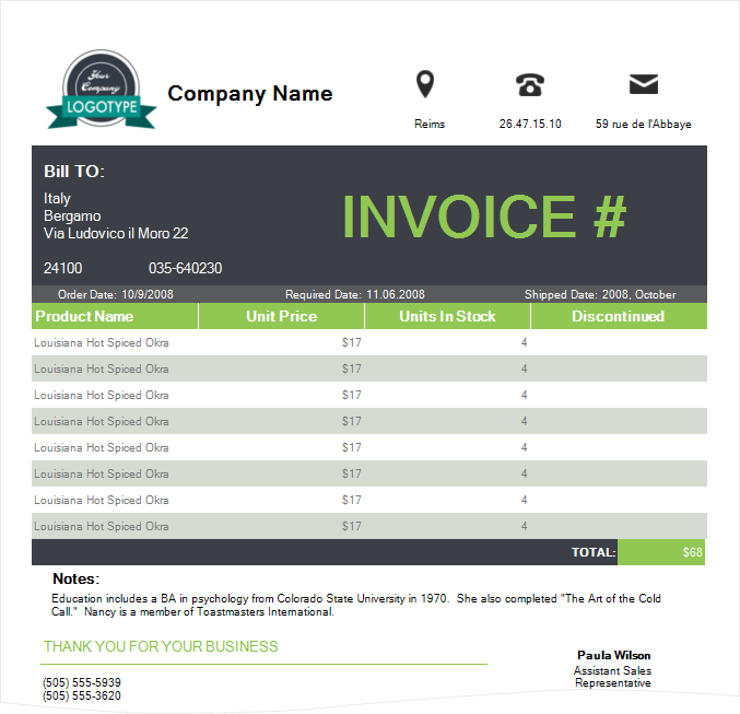 Invoice With Style