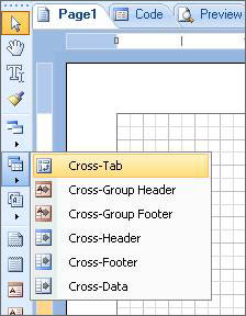 Add a Cross-Tab to the report