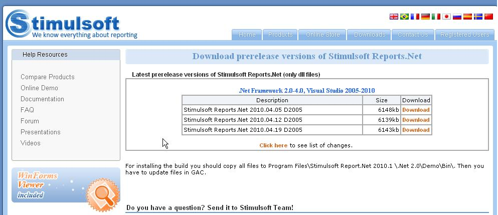 Stimulsoft reporting tools