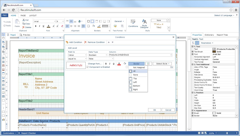 Java Reporting Tool, Standalone Report Designer, Exporting