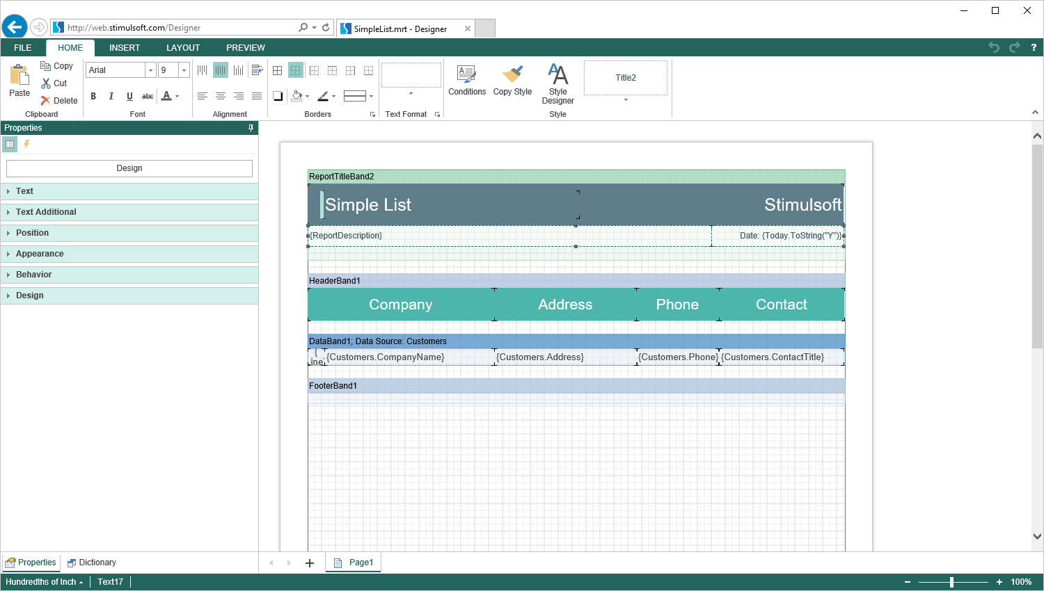 Fully Featured Reporting Tool for ASP NET, ASP NETMVC, HTML5