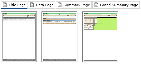 Handy Separation of Report Template into Pages